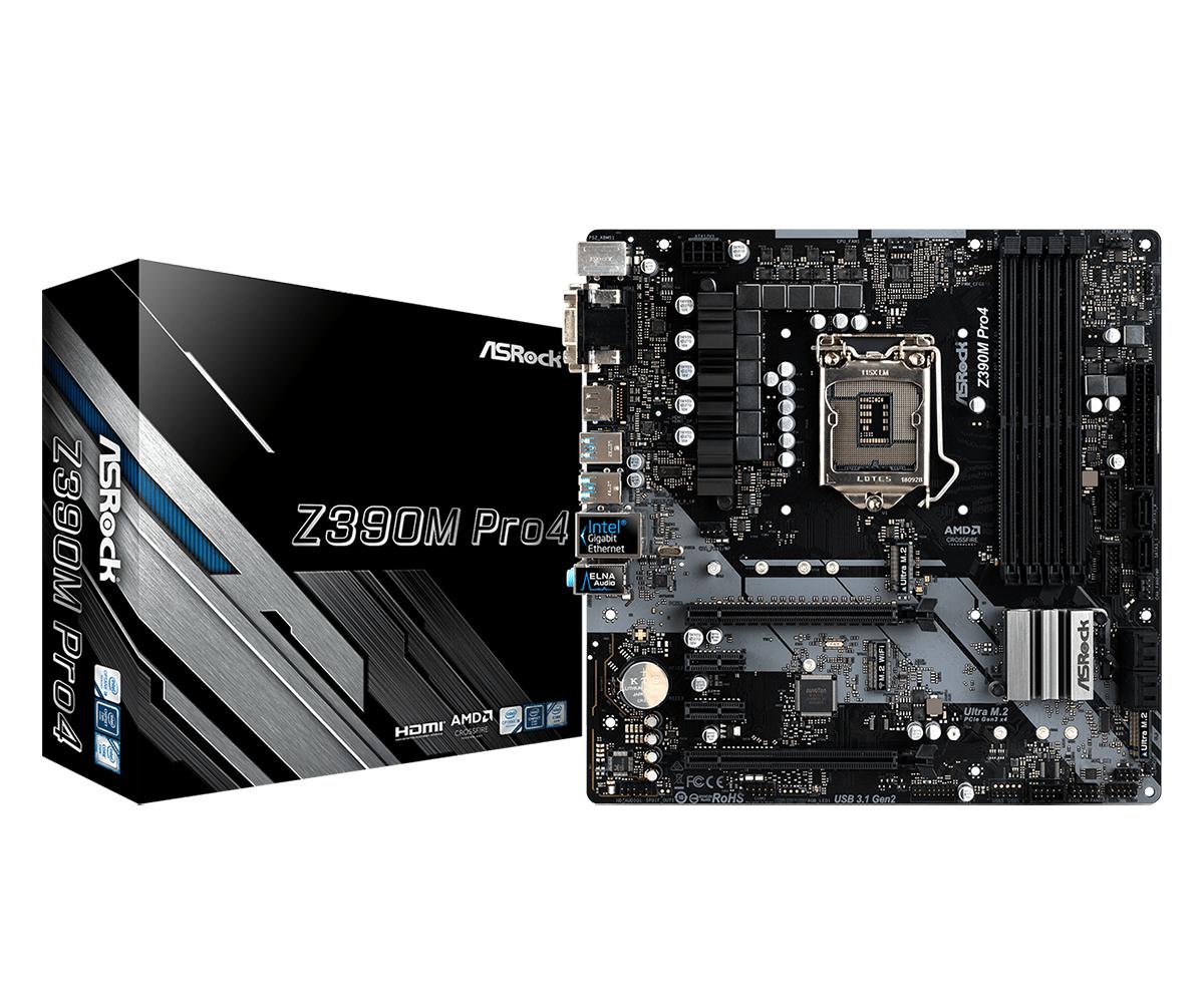 ASRock Z390M Pro4 Micro-ATX LGA1151  Intel Z390