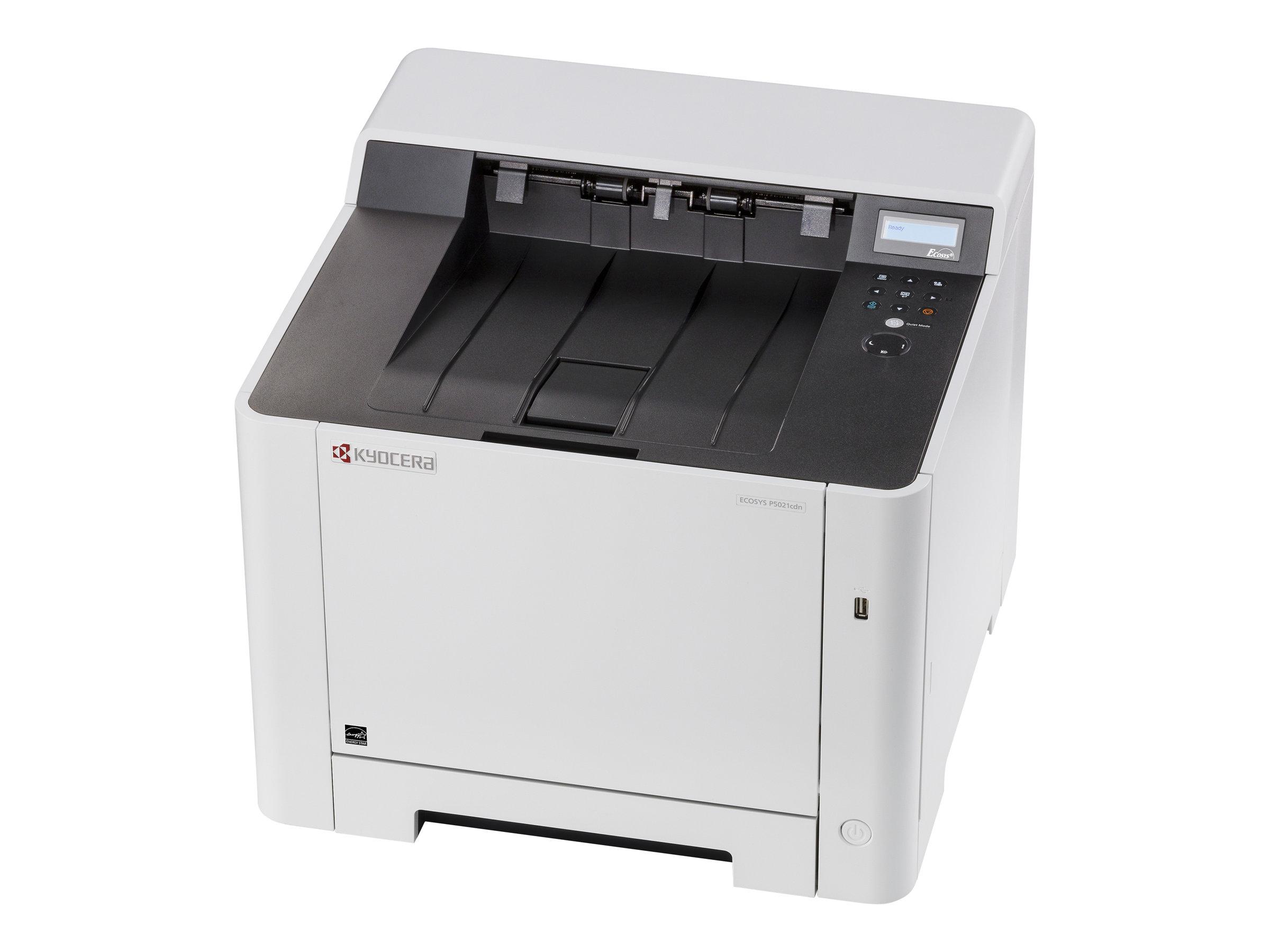 Kyocera ECOSYS P5021cdn - Drucker - Farbe - Duplex - Laser - A4/Legal - 9600 x 600 dpi - bis zu 21 Seiten/Min. (einfarbig)/