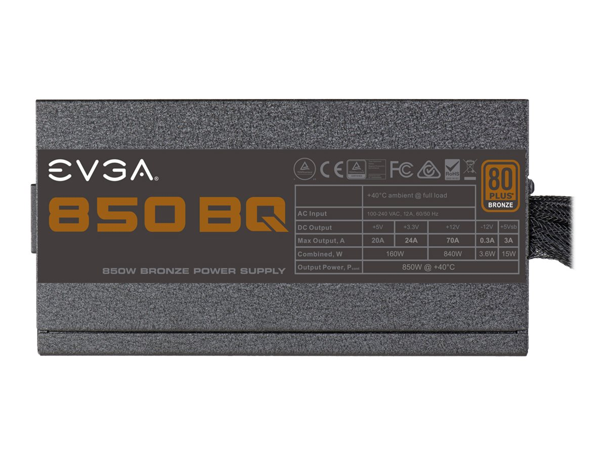 EVGA 850 BQ - V2 - Stromversorgung (intern) - 80 PLUS Bronze