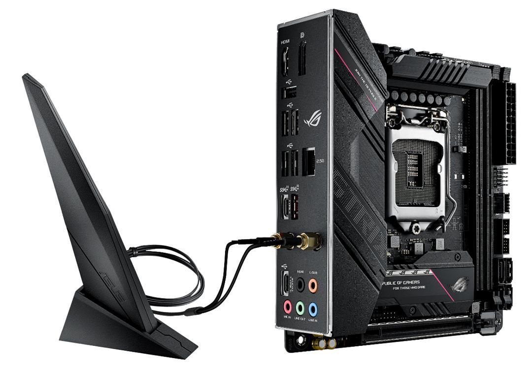 ASUS ROG STRIX B560-I GAMING WIFI - Motherboard - Mini-ITX - LGA1200-Sockel - B560 - USB-C Gen2, USB 3.2 Gen 1, USB 3.2 Gen 2, USB-C Gen 2x2 - 2.5 Gigabit LAN, Wi-Fi - Onboard-Grafik (CPU erforderlich)