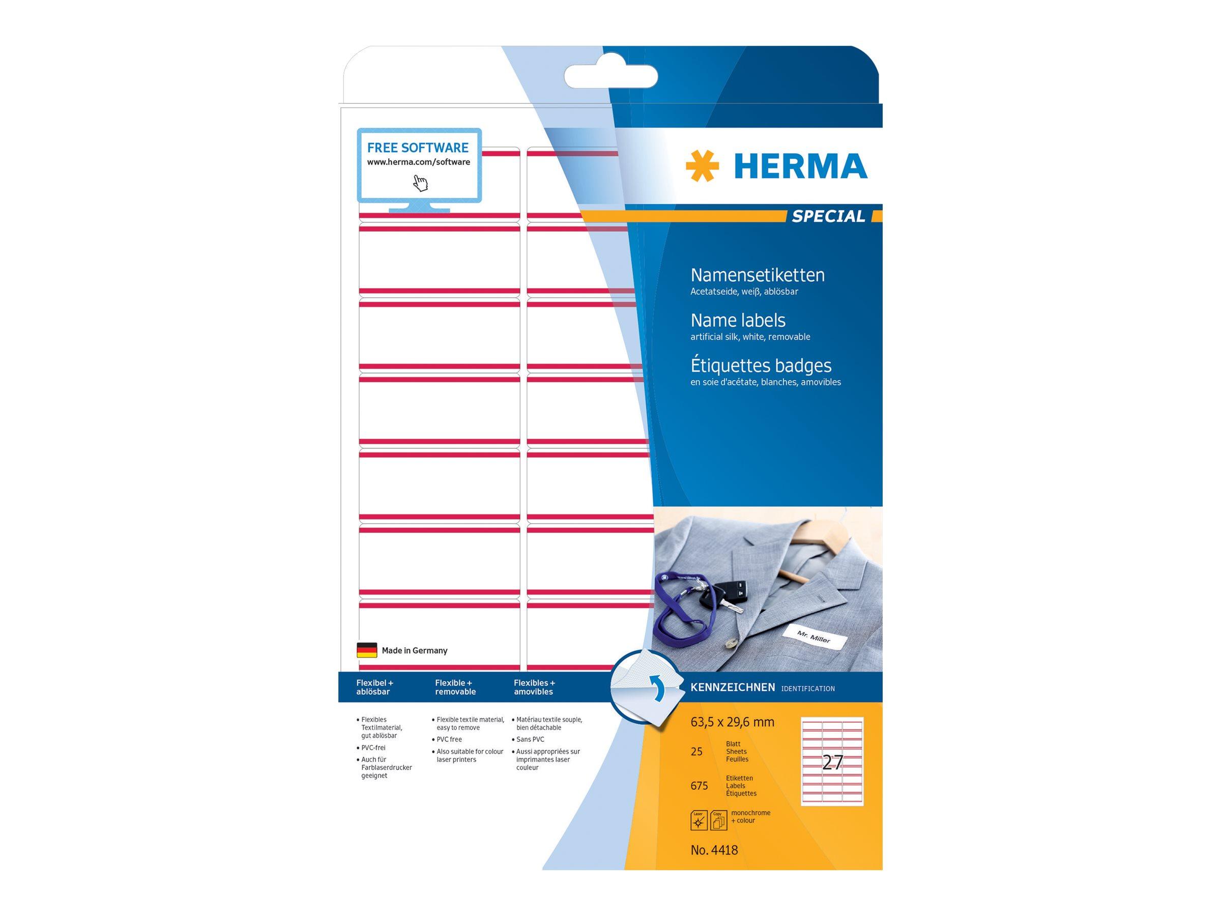 HERMA Special - Seidig - selbstklebend, entfernbarer Klebstoff