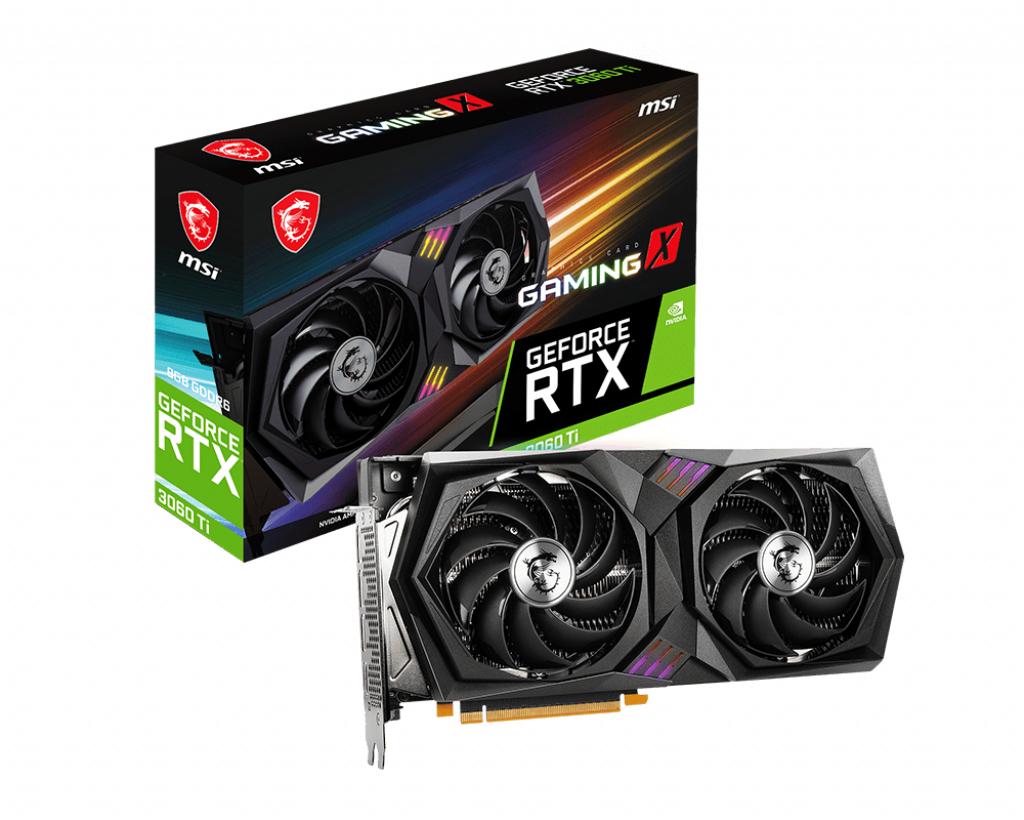 MSI RTX 3060 TI GAMING X - GeForce RTX 3060 Ti - 8 GB - GDDR6 - 256 Bit - 7680 x 4320 Pixel - PCI Express 4.0