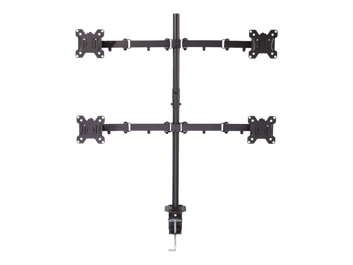 Vorschau: Lindy Quad Display Bracket w/ Pole & Desk Clamp - Tischhalterung für 4 Monitore (einstellbarer Arm)