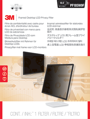"""Framed Privacy Filter PF185W9F - Bildschirmfilter - 18,5"""" Breitbild"""