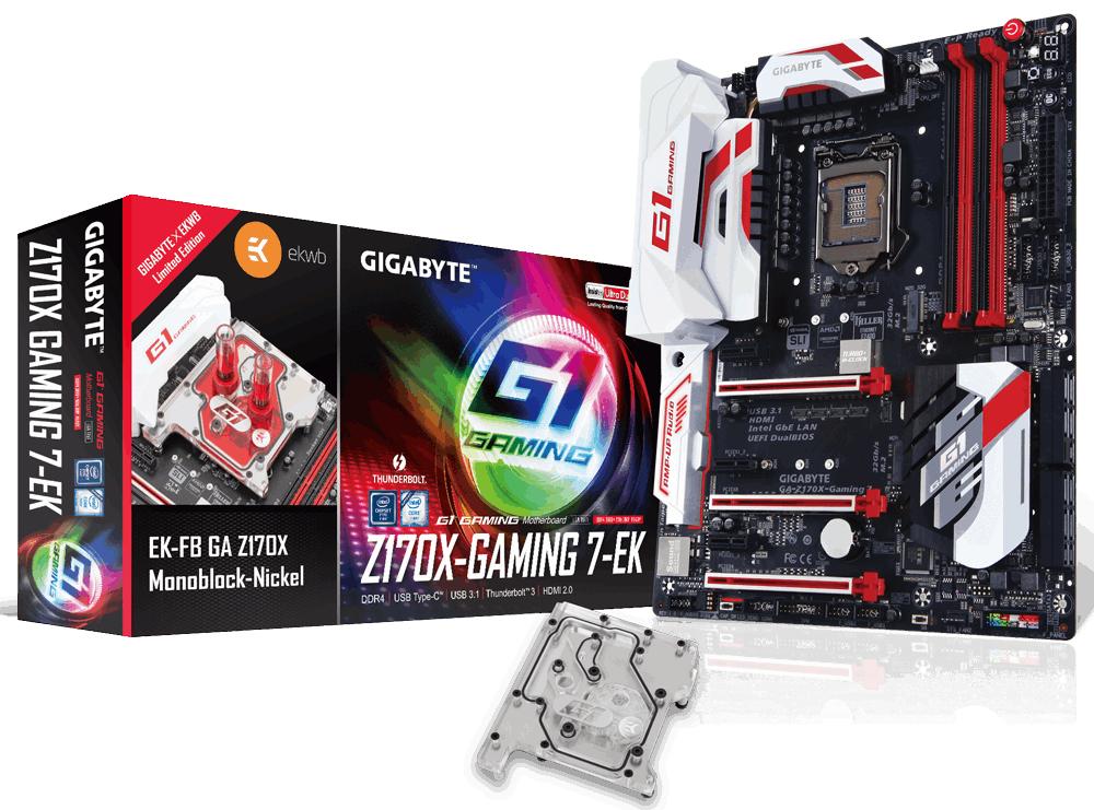 Gigabyte GA-Z170X-Gaming 7-EK (rev. 1.0) Intel Z170 LGA 1151 (Socket H4) ATX Motherboard