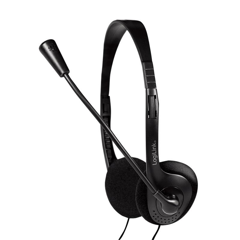 LogiLink Headset stereo umweltfreundlich verpackt Klinke - Headset