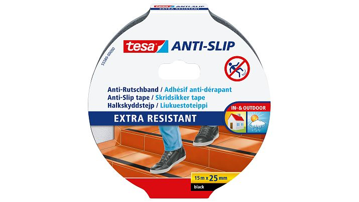Vorschau: Tesa 55589-00 - Non-slip bath strip - Erwachsene - Schwarz - 25 mm