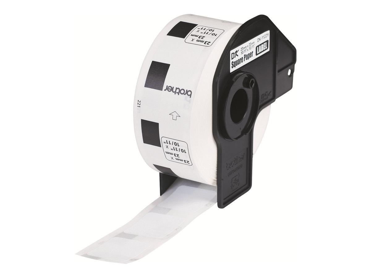 Brother DK-11221 - Schwarz auf Weiß - 23 x 23 mm 1000 Etikett(en) Etiketten