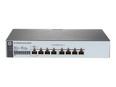 HPE 1820-8G - Switch - managed - 8 x 10/100/1000