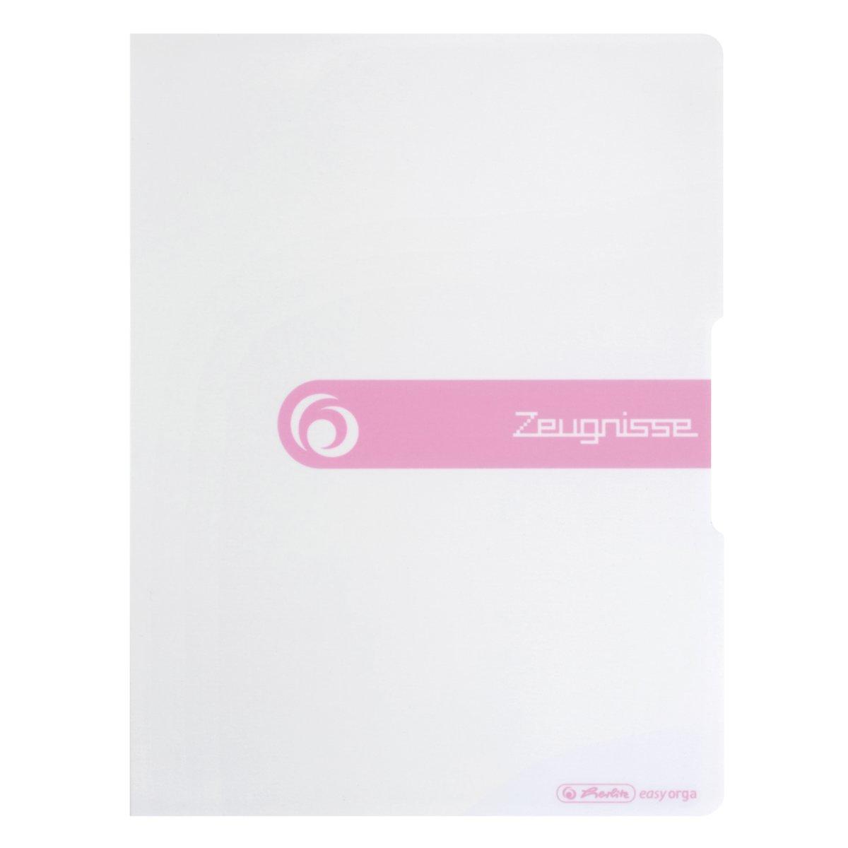 Herlitz Zeugnisse - Konventioneller Dateiordner - A4 - Polypropylen (PP) - Weiß - Porträt - 1 Stück(e)