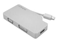 Travel A/V Adapter 3-in-1 Mini DisplayPort to VGA DVI HDMI 4K - Videokonverter - DisplayPort