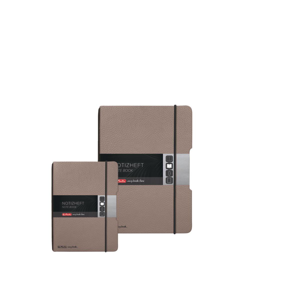 Herlitz 50033775 - Einfarbig - Graubraun - A5 - 40 Blätter - Erwachsener