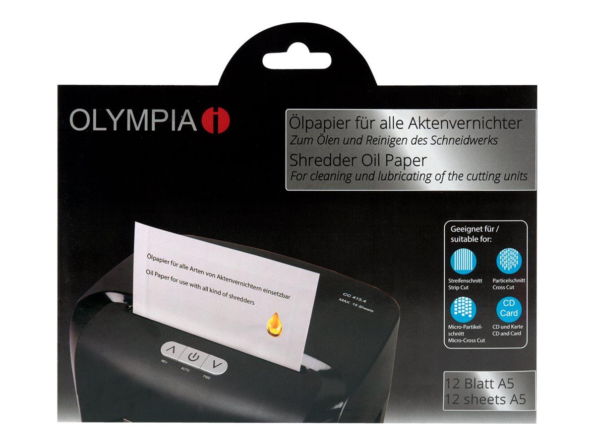 Olympia - Aktenvernichter-Ölpapier - 12 Stück pro Packung