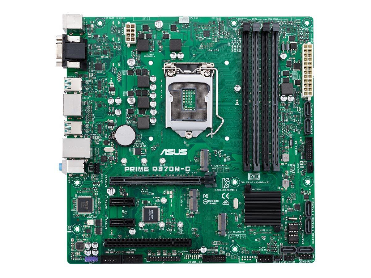 ASUS PRIME Q370M-C/CSM - Motherboard - micro ATX - LGA1151 Socket - Q370 - USB 3.1 Gen 1, USB 3.1 Gen 2 - Gigabit LAN - Onboard-Grafik (CPU erforderlich)