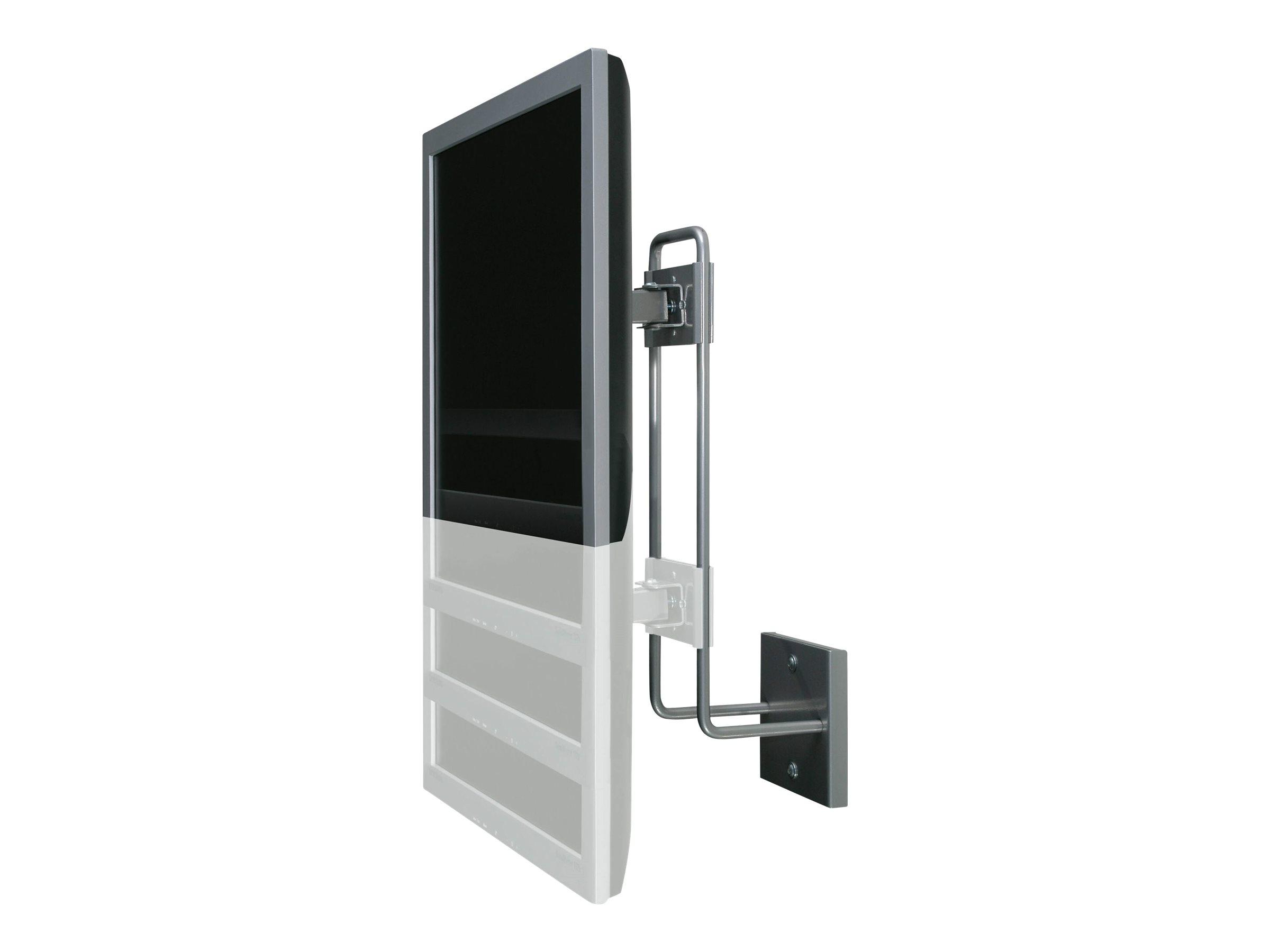 R-Go Steel Up & Down Wandhalterung, verstellbar, silber - Wandhalterung für LCD-Display - Stahl - Silber - Bildschirmgröße: bis zu 68,6 cm (bis zu 27 Zoll)