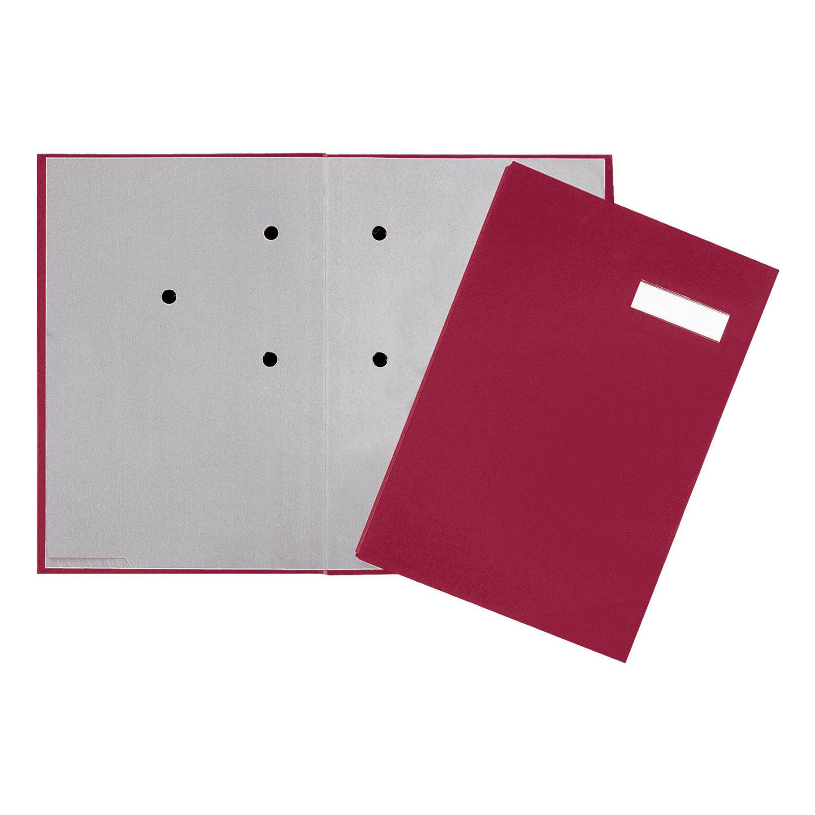 Pagna Unterschriftsmappe 20 Fächer - A4 - Karton - Rot - Weiß - Porträt - 240 mm - 25 mm