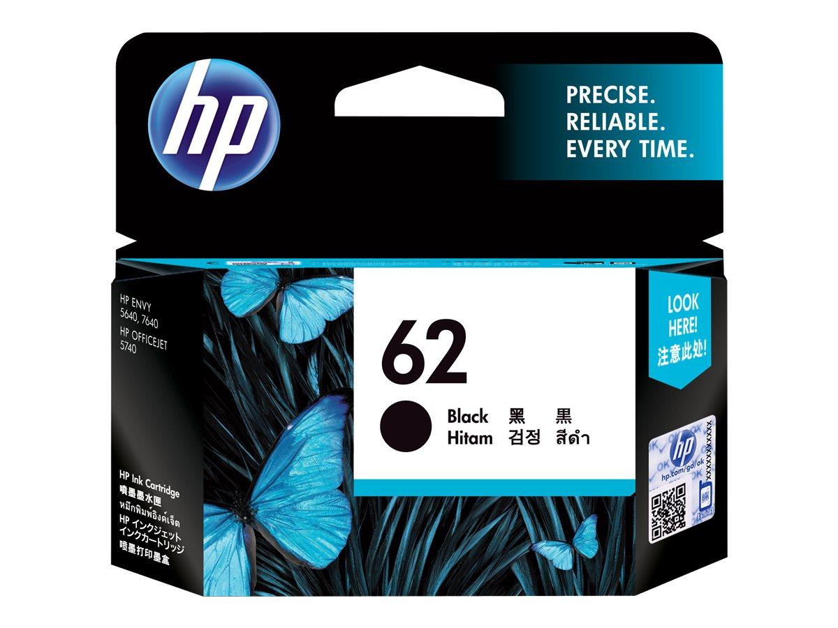 HP 62 - Schwarz - Original - Tintenpatrone - für Envy 55XX, 56XX, 76XX