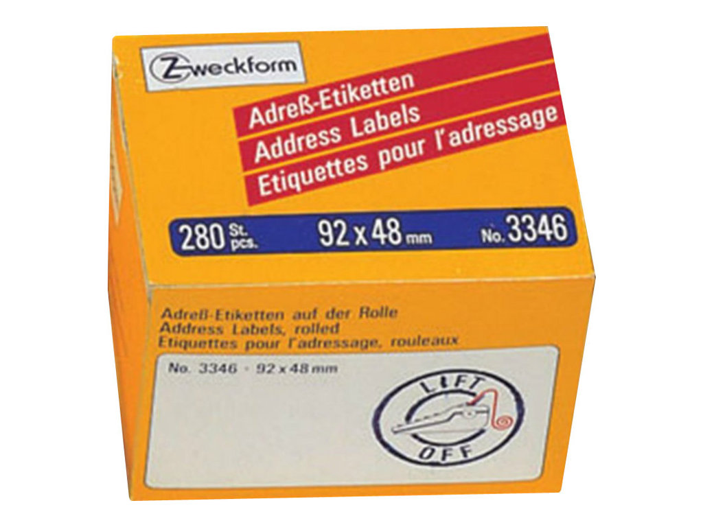 Avery Zweckform Address Labels - Weiß - 92 x 48 mm 280 Etikett(en) (1 Rolle(n)