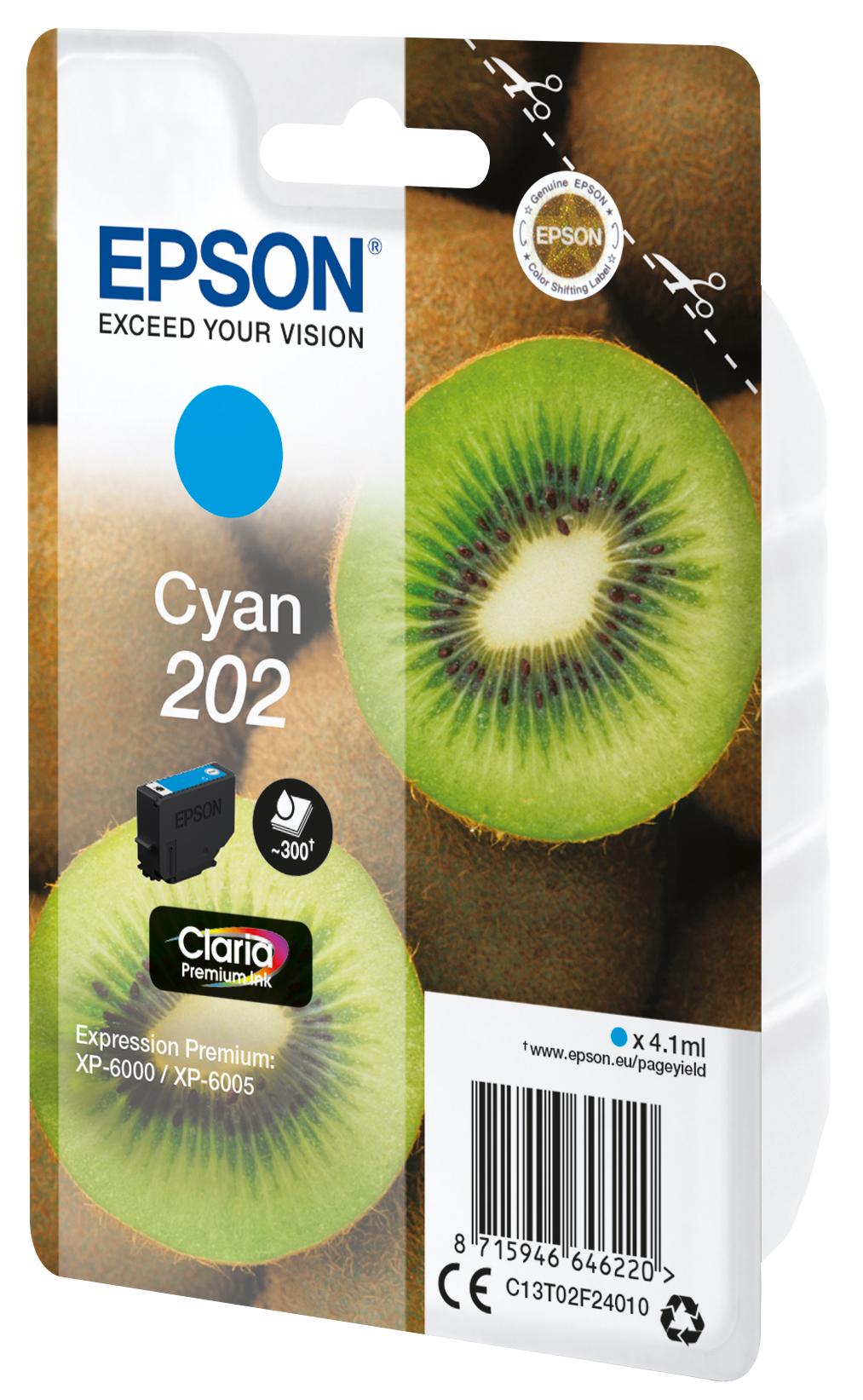 Epson-C13T02F24020-Kiwi-Singlepack-Cyan-202-Claria-Premium-Ink-Original thumbnail 3