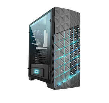 AZZA Onyx 260 - Midi Tower - PC - Schwarz - ATX,Micro ATX - Taschenlüfter - 15,5 cm