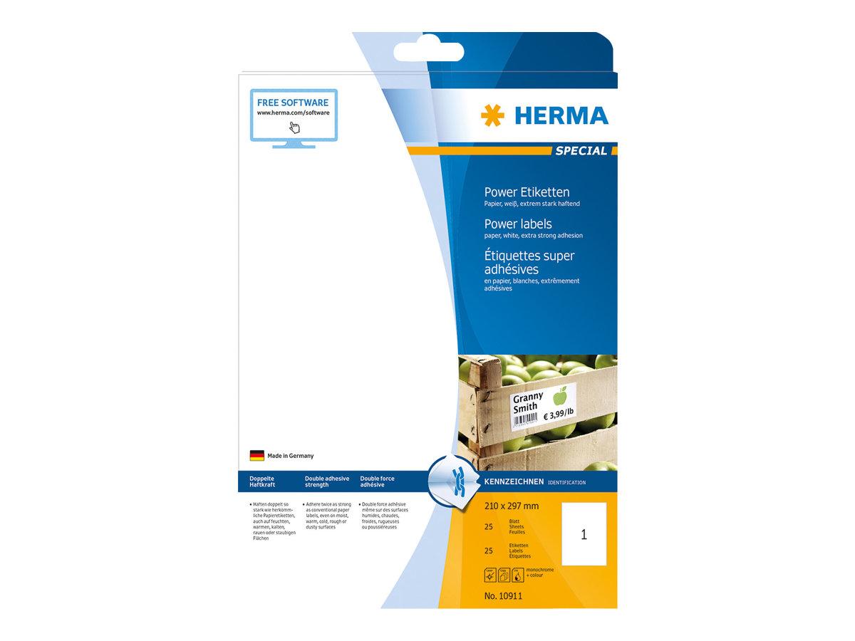 HERMA Special Power Labels - Papier - matt - extrem stark haftend - weiß - A4 (210 x 297 mm)