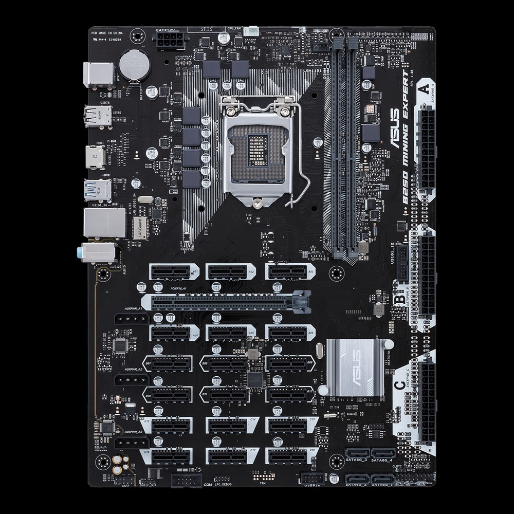 ASUS B250 MINING EXPERT Intel B250 LGA 1151 (Socket H4) ATX Mainboard