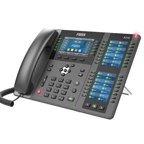 Fanvil X210 - IP-Telefon - Schwarz - Kabelgebundenes Mobilteil - 20 Zeilen - 2000 Eintragungen - LCD