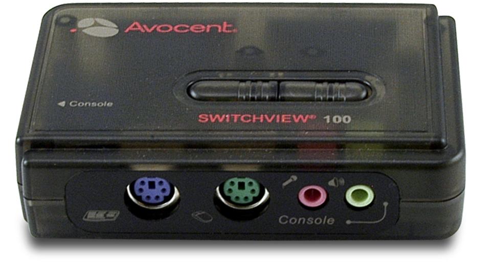 Avocent SwitchView 100 SERIES DESKTOP KVM SWITCH 2-Port KVM-Umschalter - PS/2