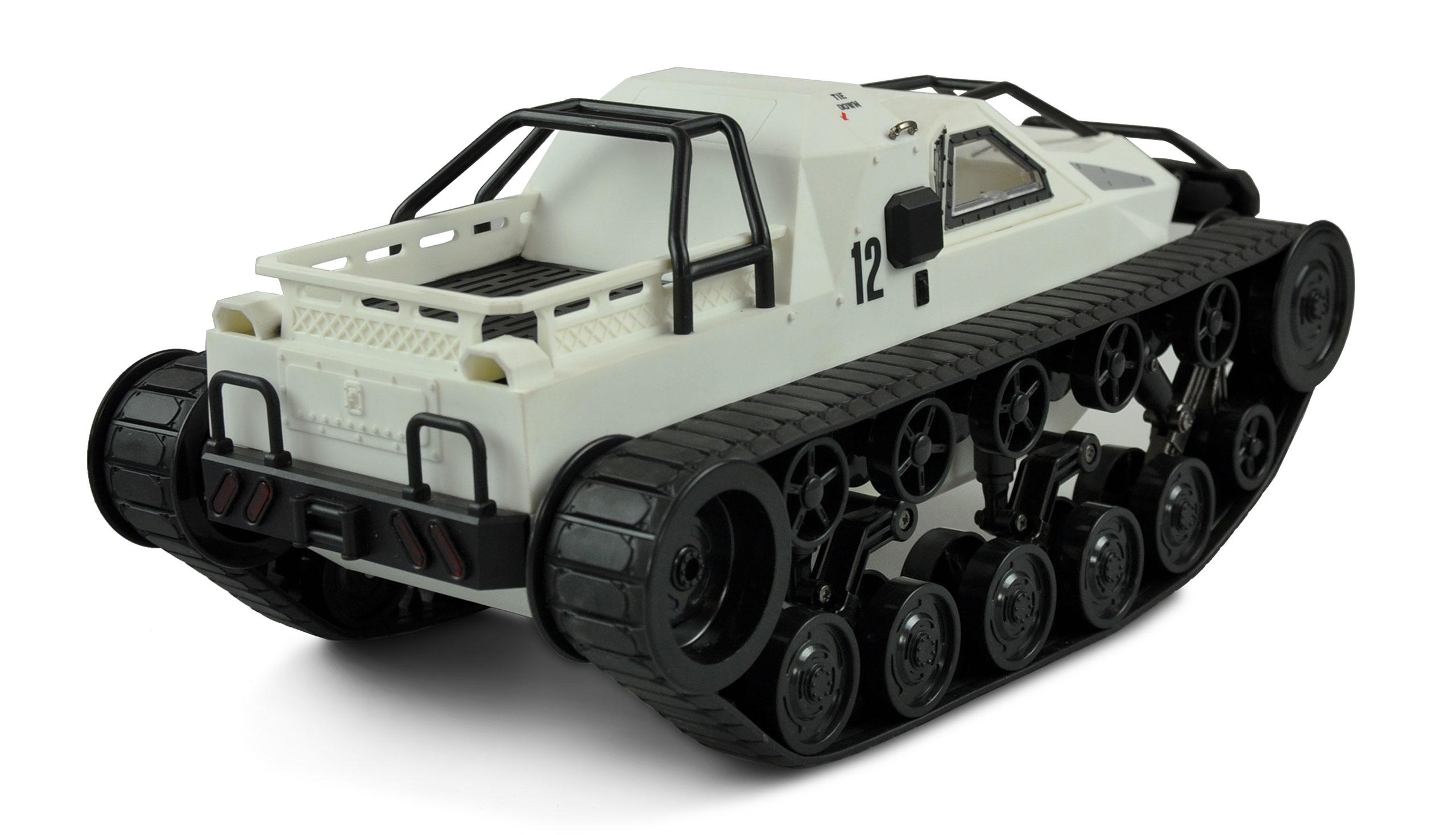 Amewi Military Police Kettenfahrzeug Weiss - Elektromotor - 1:12 - Betriebsbereit (RTR) - Schwarz - Weiß - Junge/Mädchen - 14 Jahr(e)