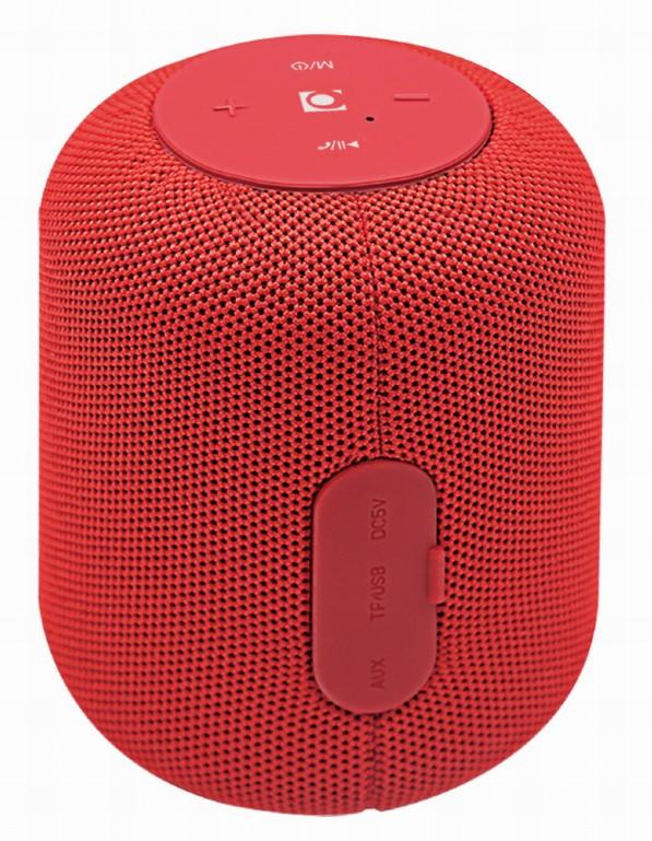 Gembird SPK-BT-15-R - Lautsprecher - Kabellos - Bluetooth - rot