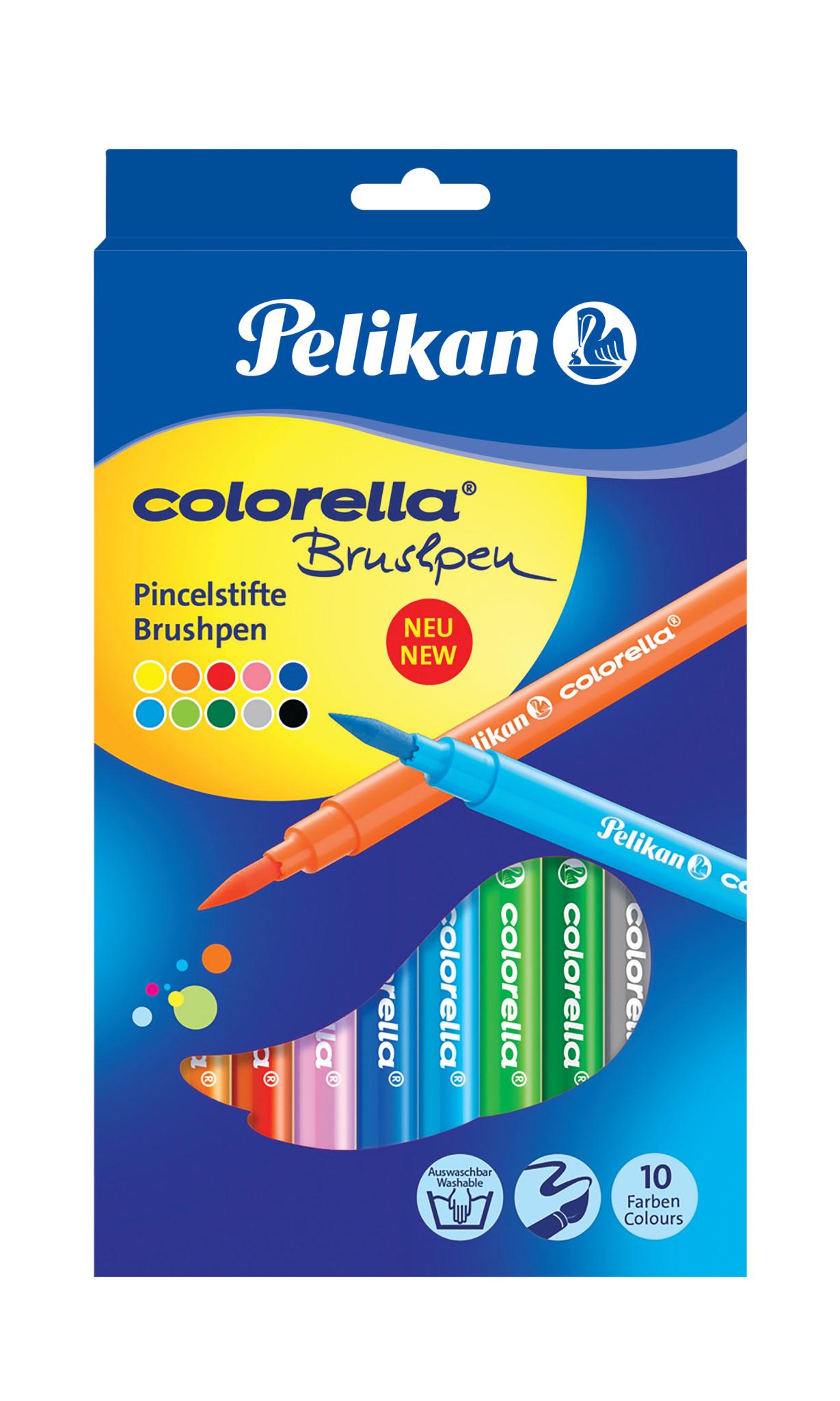 Pelikan Colorella Brushpen - Mehrfarbig - Rund - Ausstellungsbox - 10 Stück(e)