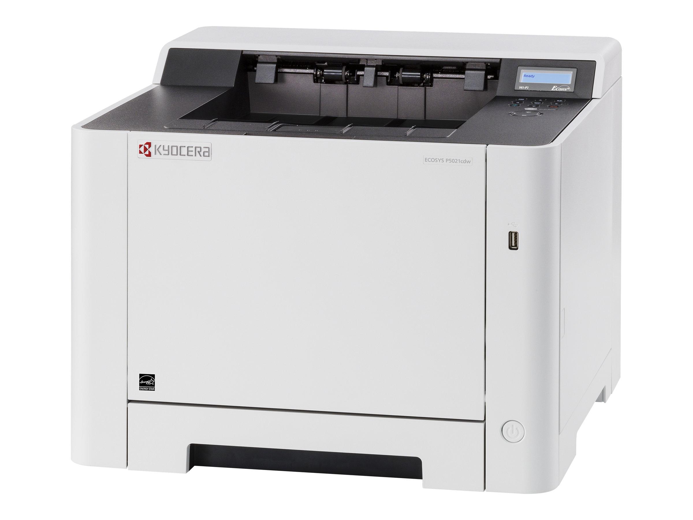 Kyocera ECOSYS P5021cdw - Drucker - Farbe - Duplex - Laser - A4/Legal - 9600 x 600 dpi - bis zu 21 Seiten/Min. (einfarbig)/