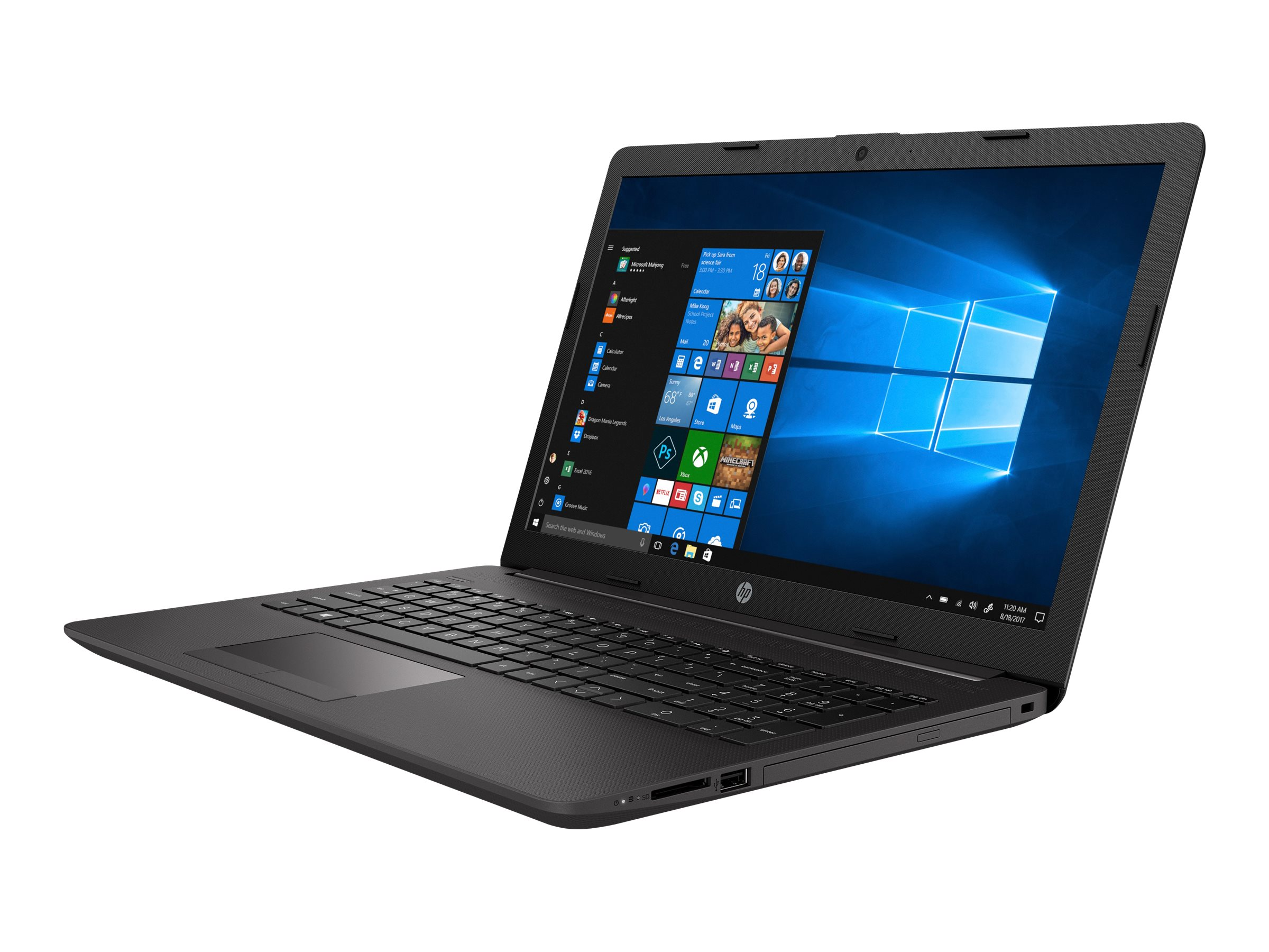 "HP 250 G7 - Core i3 1005G1 / 1.2 GHz - FreeDOS - 8 GB RAM - 256 GB SSD NVMe, HP Value - DVD-Writer - 39.6 cm (15.6"")"