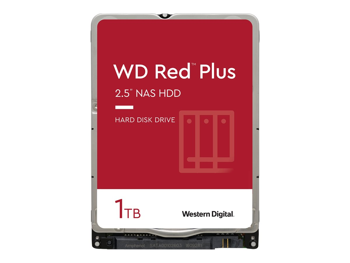 "WD Red Plus NAS Hard Drive WD10JFCX - Festplatte - 1 TB - intern - 2.5"" (6.4 cm)"