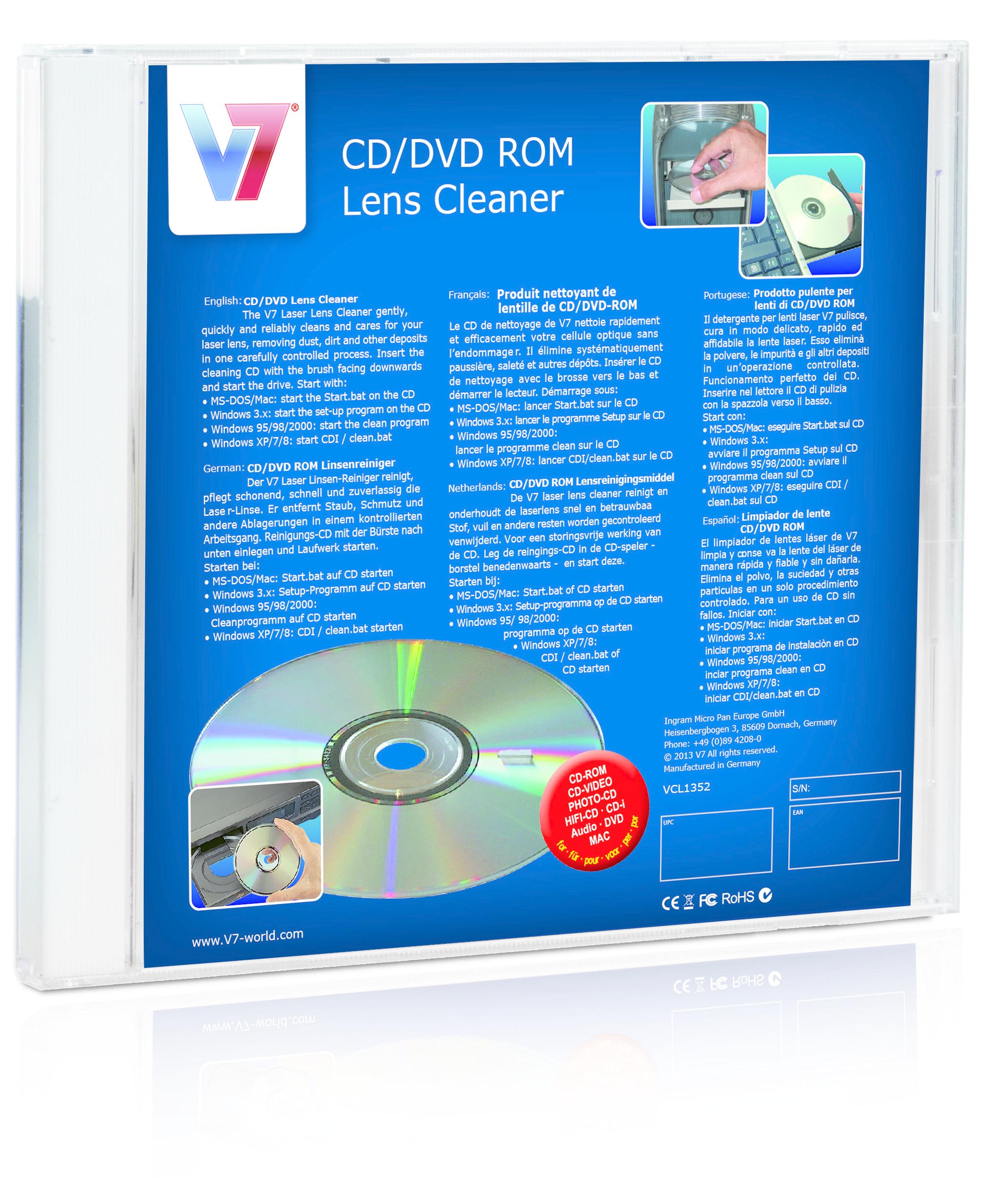 V7 CD/DVD-Linsenreinigungs-Kit