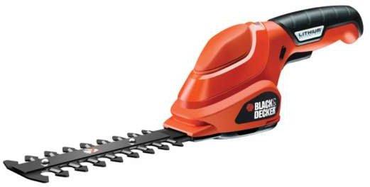 Image of Black & Decker GSL300 Kabellose Heckenschere Akku-Heckenschere Doppelte Klinge 600 g