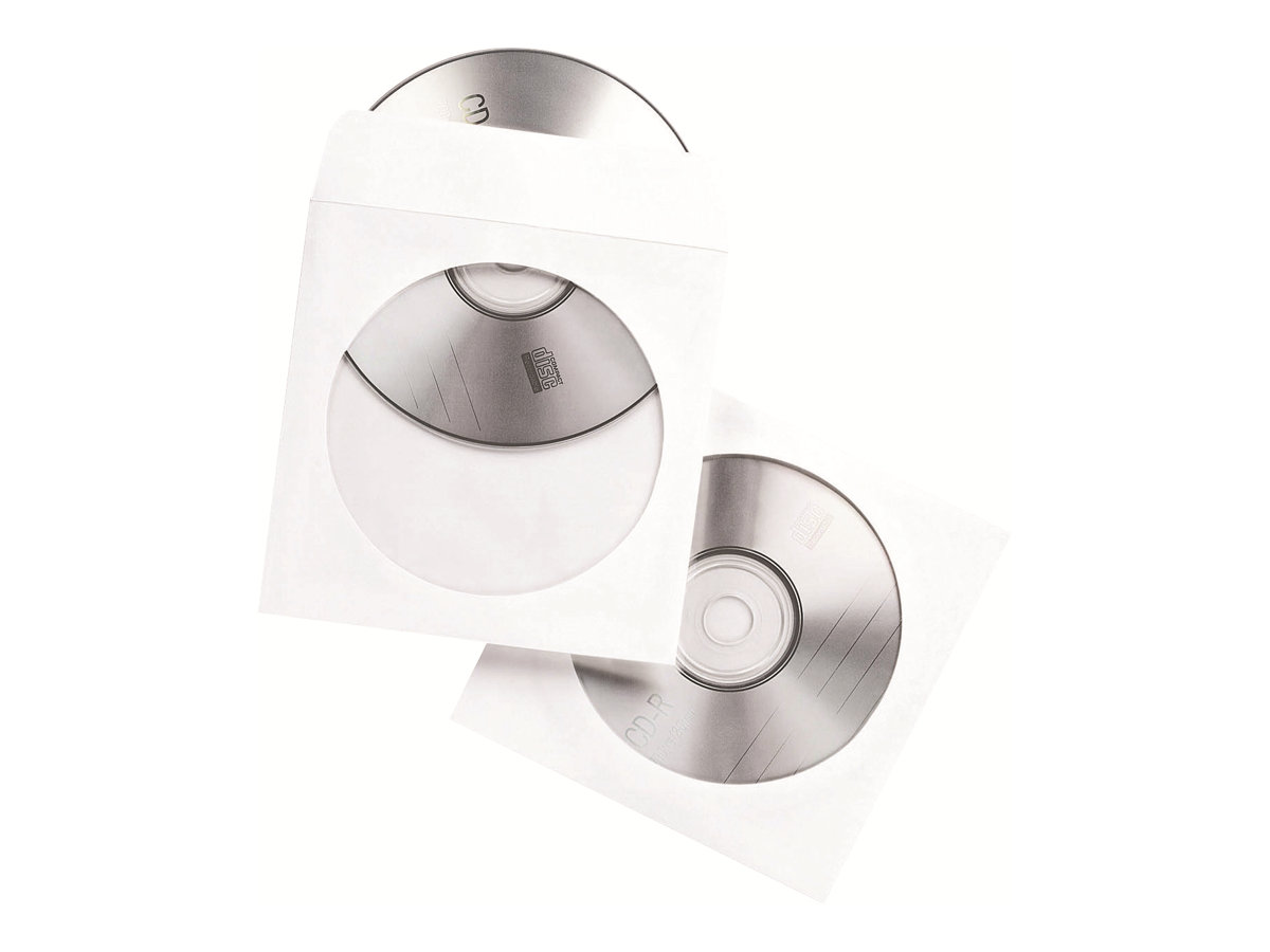 Fellowes - CD/DVD-Hülle - Kapazität: 1 CD/DVD - weiß (Packung mit 100)
