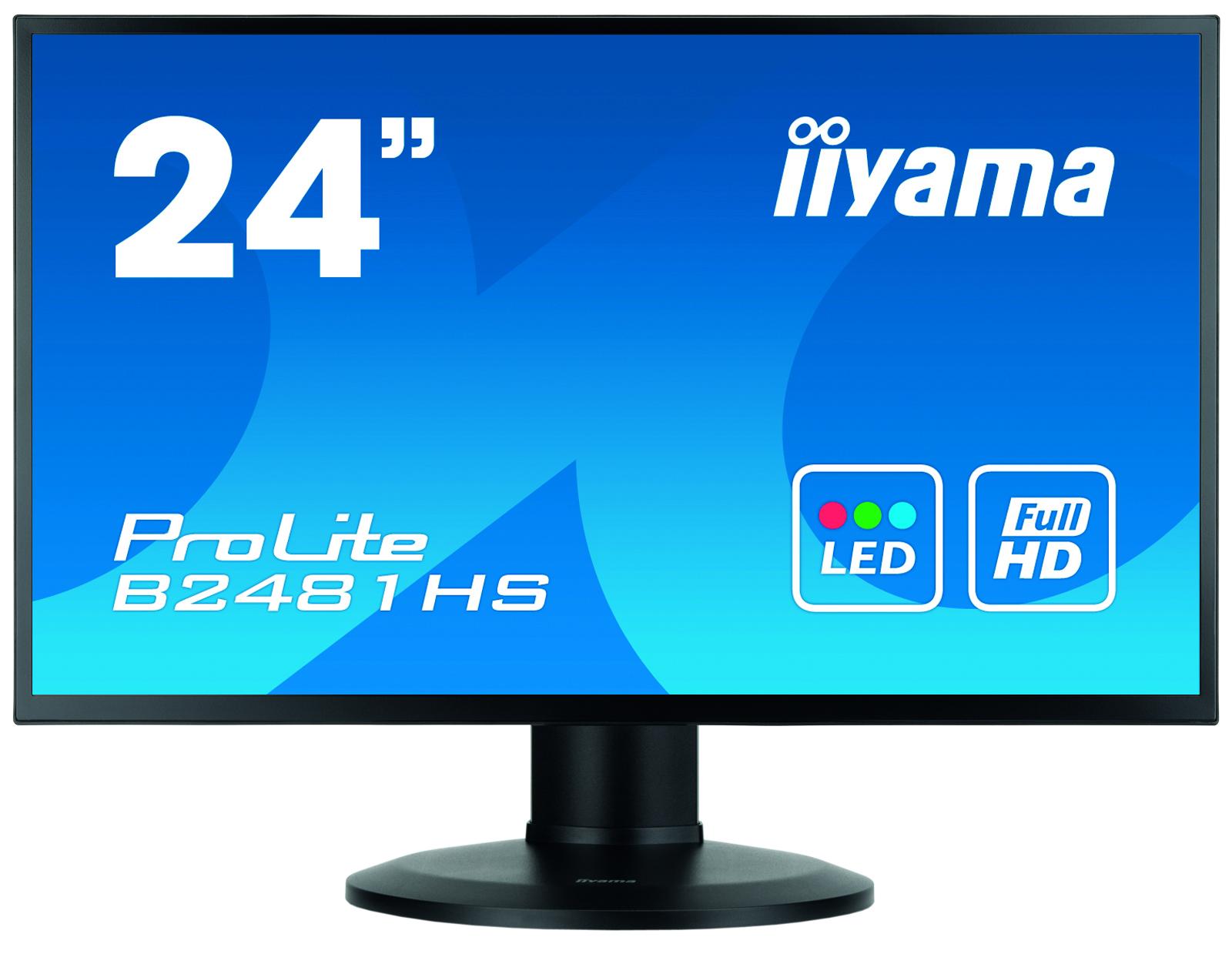 Iiyama ProLite XB2481HS-B1 - 59,9 cm (23.6 Zoll) - 1920 x 1080 Pixel - Full HD - LED - 6 ms - Schwarz