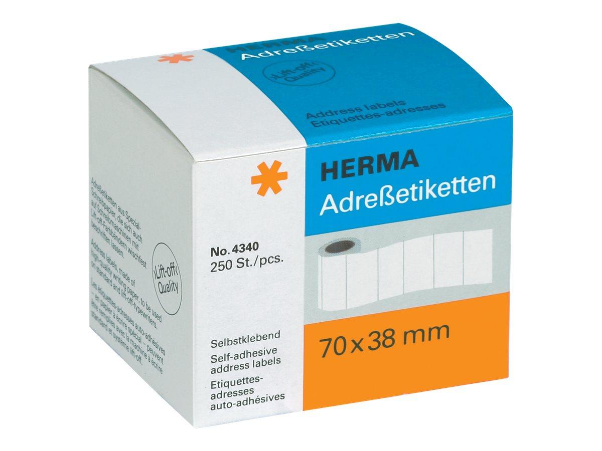 HERMA Selbstklebend - 70 x 38 mm 250 Etikett(en) (1 Rolle(n)