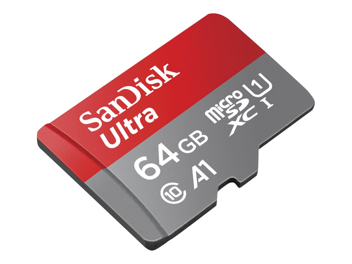 SanDisk Ultra - Flash-Speicherkarte (microSDXC-an-SD-Adapter inbegriffen)