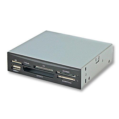 Lindy USB 2.0 Multi-Card Reader - Kartenleser - 3,5 Zoll ) ( CF I, CF II, MS, MMC, SD, MS Duo, xD, TransFlash, SDHC, MS Micro