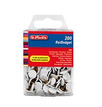 Herlitz 8770158 - Reißnagel - Metall - rund - weiß - 200 Stück