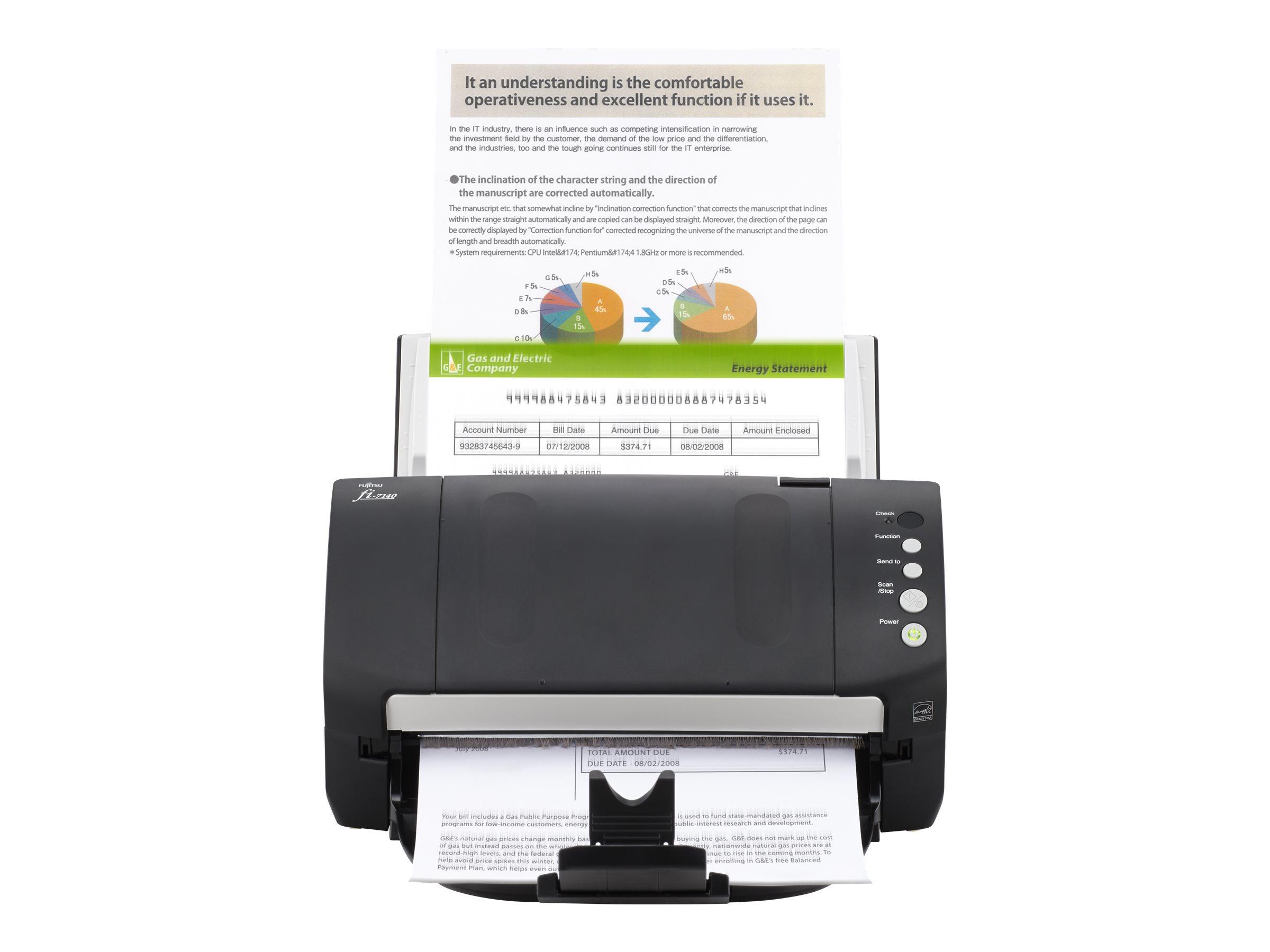 Fujitsu fi-7140 - Dokumentenscanner - Dual CCD - Duplex - 216 x 355.6 mm - 600 dpi x 600 dpi - bis zu 40 Seiten/Min. (einfarbig)