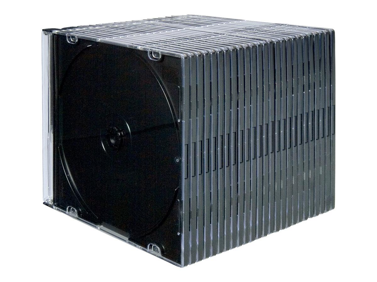 Fellowes NEATO - Slim Jewel Case für Speicher-CD - Kapazität: 1 CD, 1 DVD - klar (Packung mit 25)