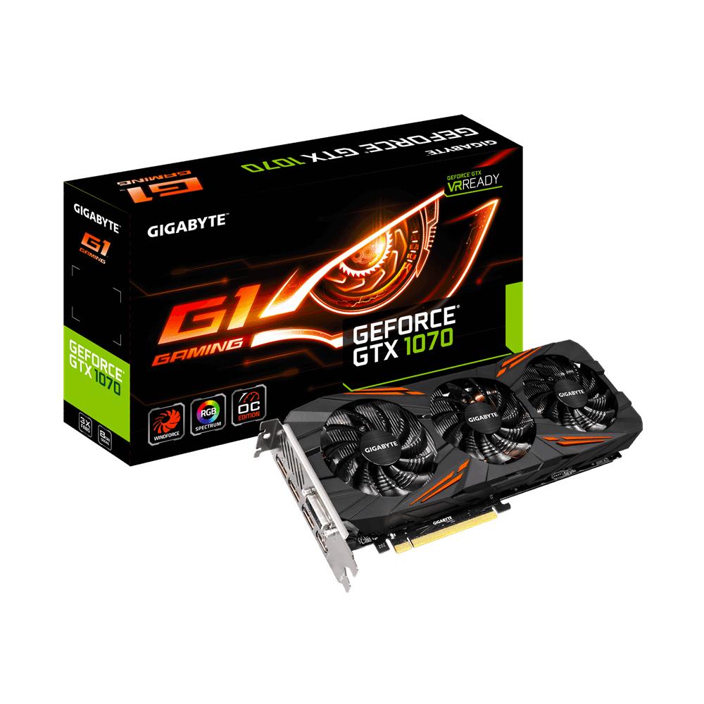 Gigabyte GeForce GTX 1070 G1 Gaming - OC Edition