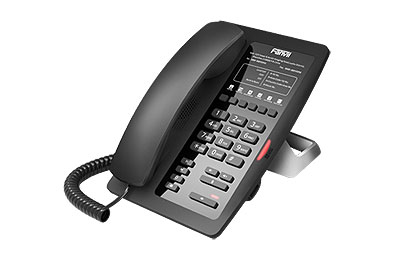 Fanvil Hoteltelefon H3 schwarz - VoIP-Telefon - Voice-Over-IP