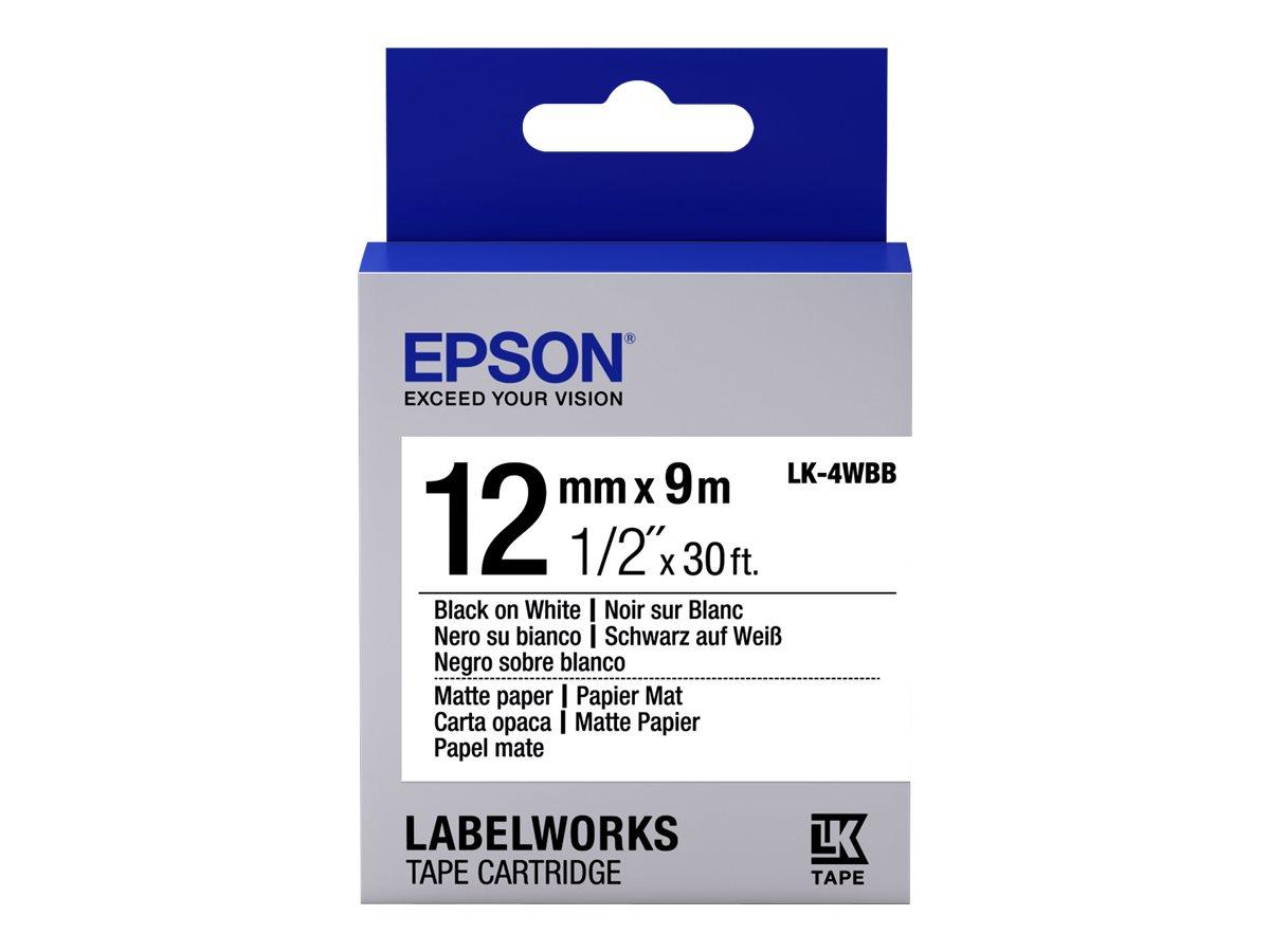 Epson LabelWorks LK-4WBB - Schwarz auf matt Weiß