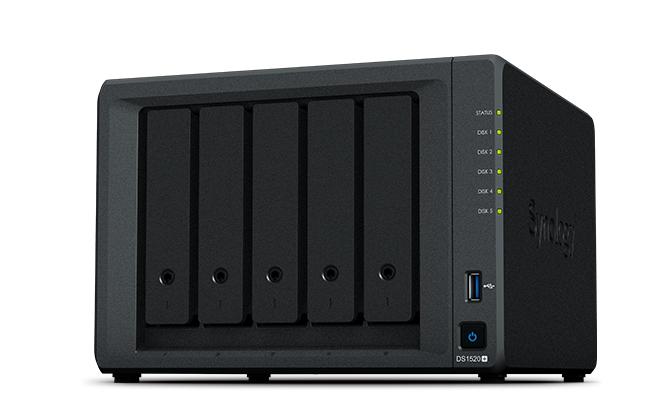 Synology DiskStation DS1520+ - NAS - Desktop - Intel® Celeron® - J4125 - Schwarz