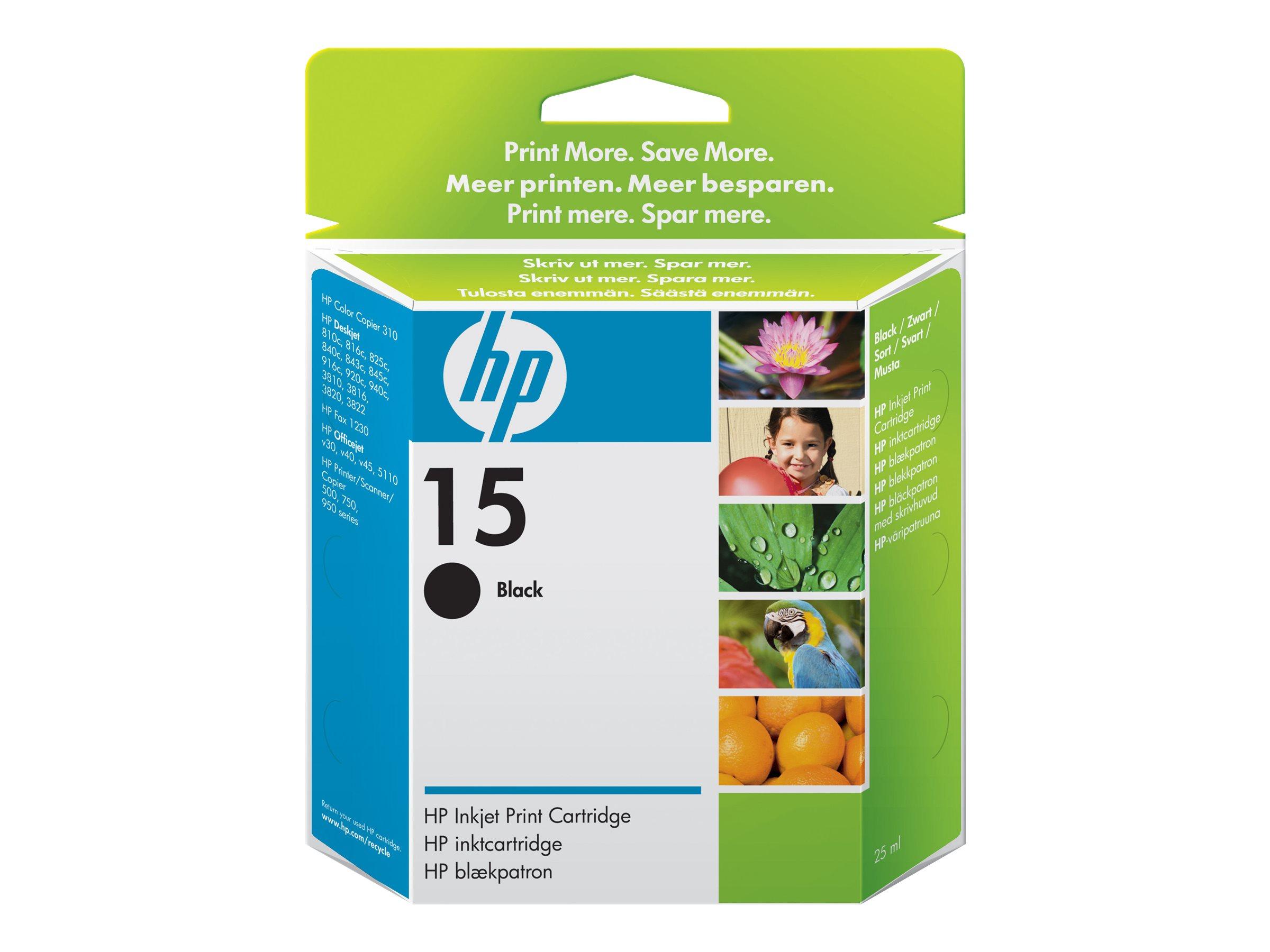 HP 15 - 25 ml - Schwarz - Original - Tintenpatrone