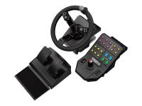 945-000062 Spiele-Controller Lenkrad + Pedale Schwarz